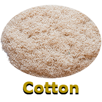 Precision cut teated and untreated cotton fibers for polymers